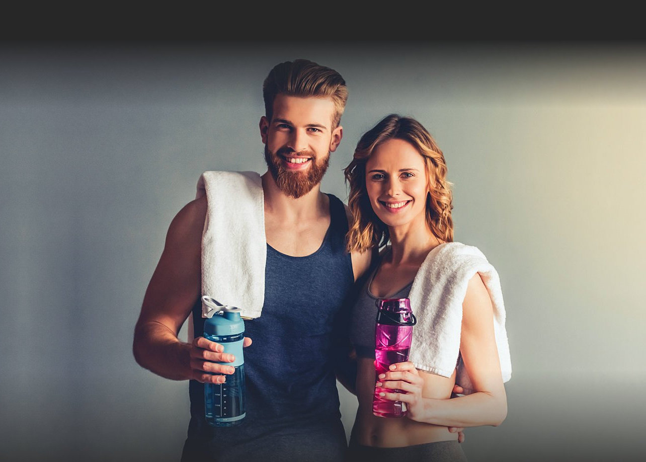 sweet couple with a tumbler