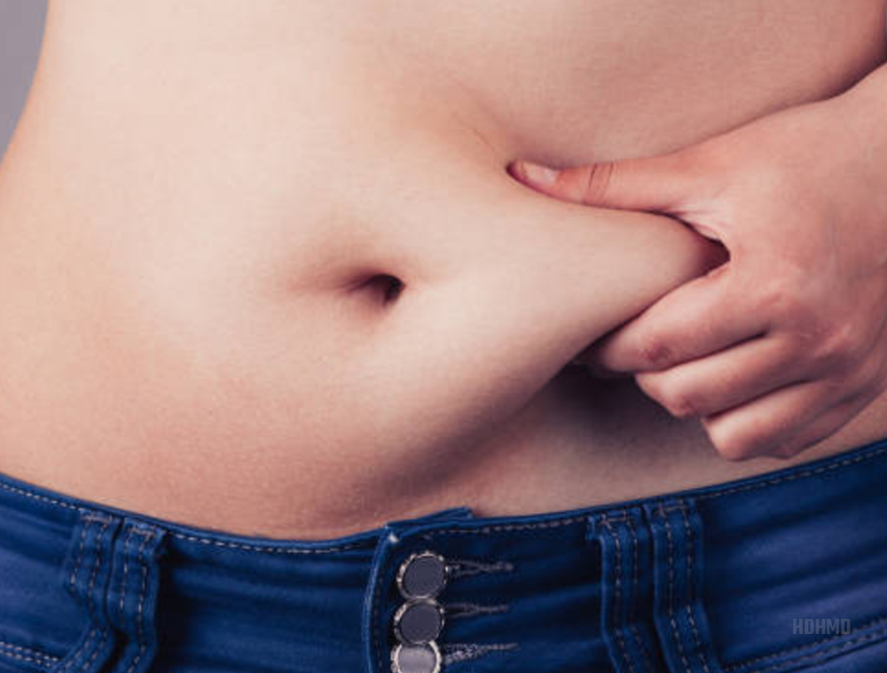 Fat increases around the midsection