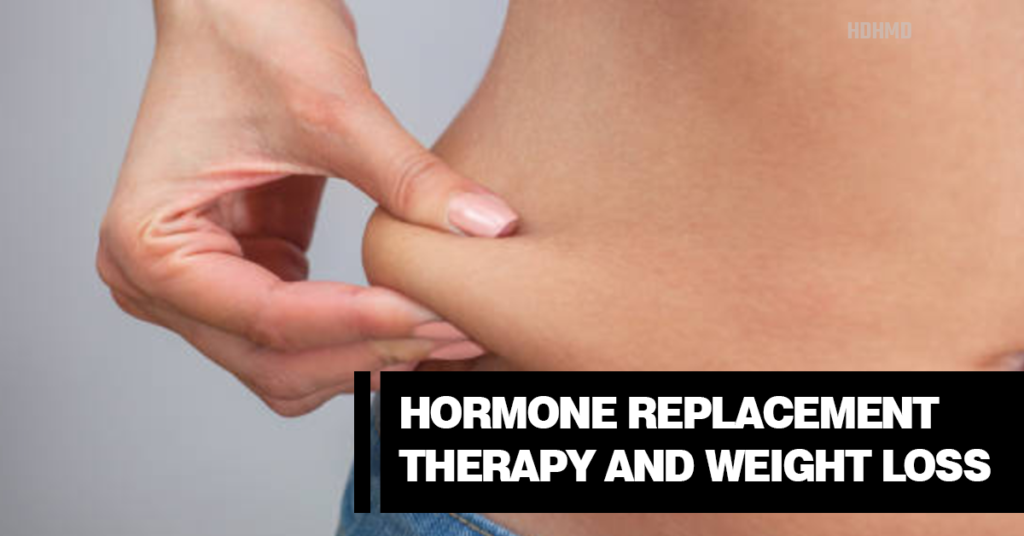 Hormone replacement therapy and weight loss