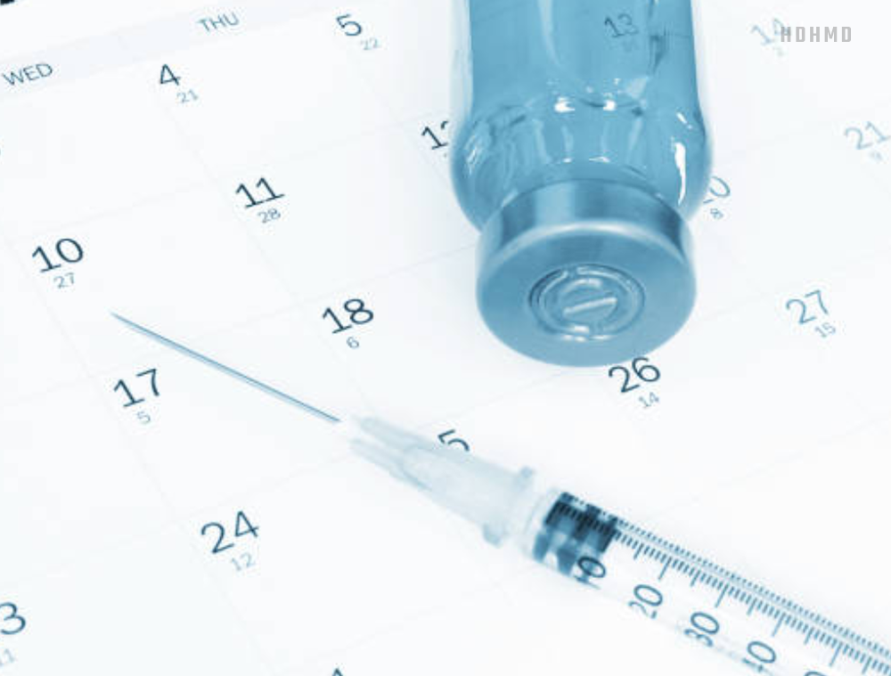 The best time to inject growth hormone for human development